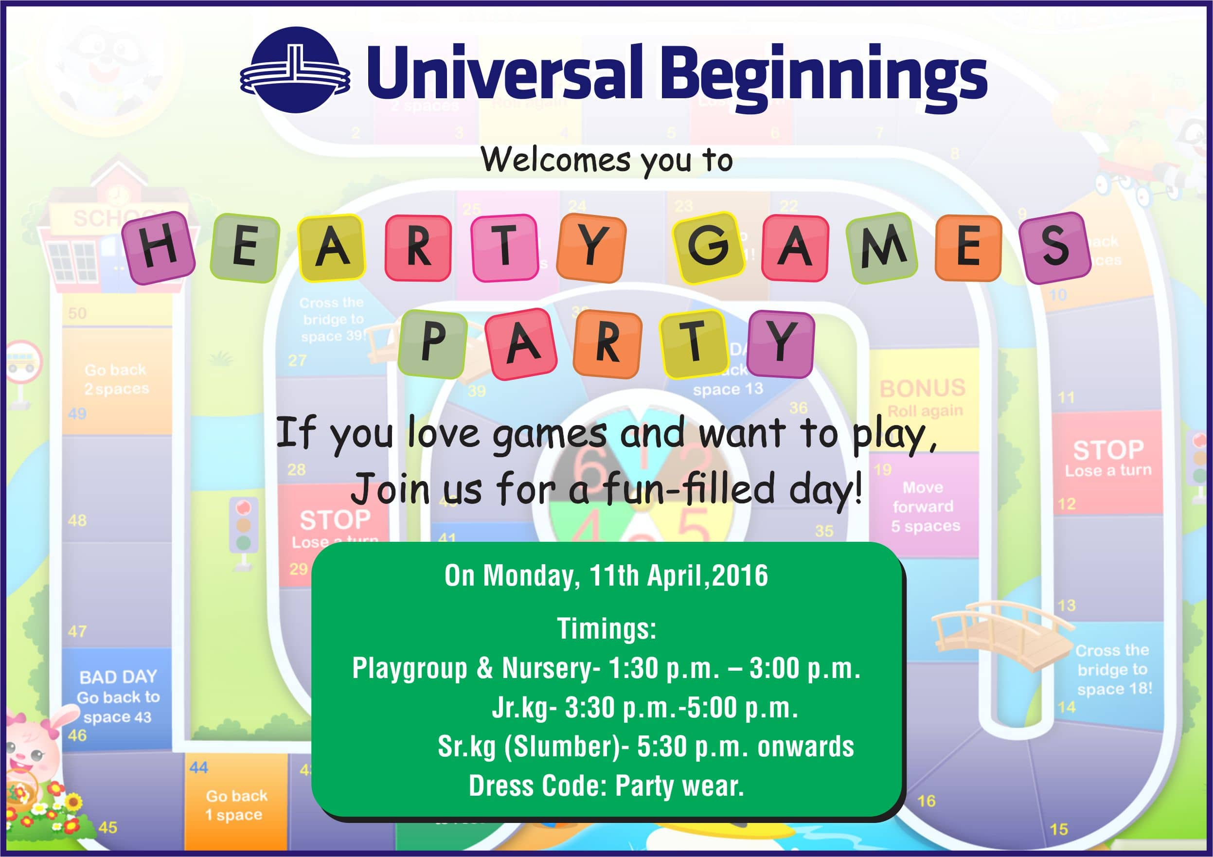 Ub invitation for year end party the universal school ghatkopar year end party invite stopboris Choice Image